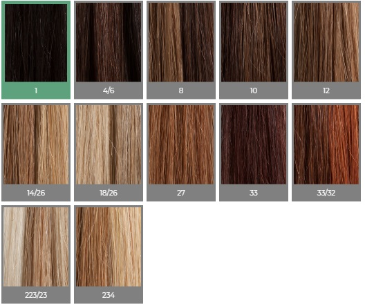 Human Hair Bangs colour chart