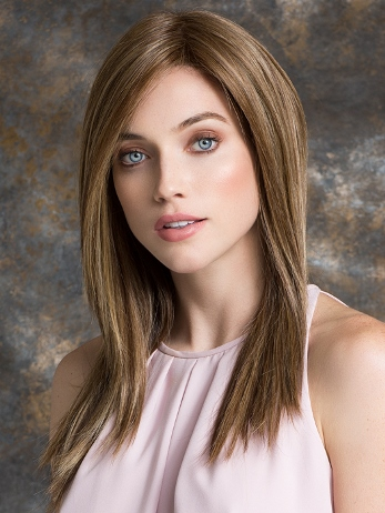 Illusion Wig<br>Human Hair/Heat<br>Friendly Synthetic<br>Full Hand-Tied-Lace Front<br>Ellen Wille
