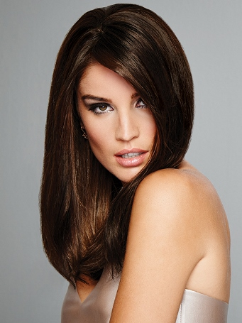 Indulgence Top Piece<br>Double Mono Top<br>Remy Human Hair<br>Raquel Welch