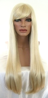 Long Platinum Blonde Wig