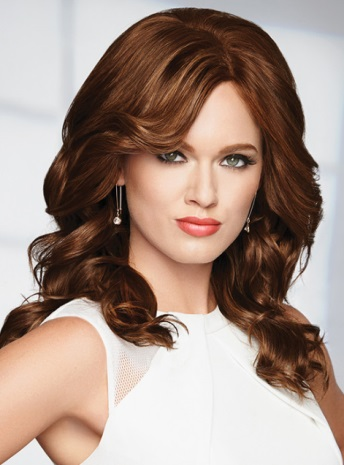 Knockout Wig<br>Human Hair<br>Mono Top<br>Raquel Welch