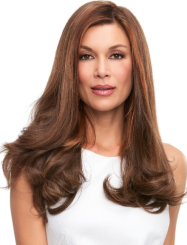 Top Full 18&quot; Elite<br>Remy Human Hair Piece<br>Mono Top<br>Jon Renau