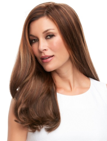 Top Full 18&quot;<br>Remy Human Hair Piece<br>Mono Top<br>Jon Renau