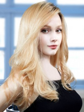 PLF006HM Wig Human Hair Lace Front Hand Tied Mono Top by Louis Ferre
