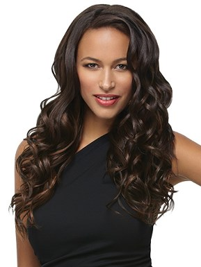 "18"" 8pc Wavy Extensions<br>Heat Friendly<br>by Hairdo"
