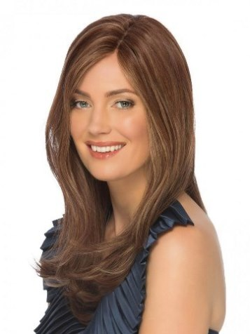 Angelina Wig<br>Remy Human Hair<br>Lace Front-Mono Top<br>by Estetica Designs