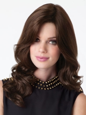 Charlotte Wig Wavy<br>Double Mono Top-Lace Front<br>Remy Human Hair<br>by Amore