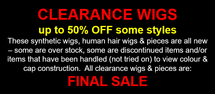clearance wigs canada