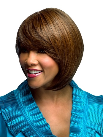 Estee Wig<br>Side Skin Part<br>Heat Friendly<br>Vivica Fox