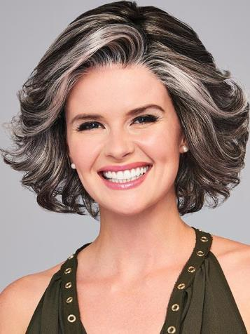 High Impact Wig<br>Average<br>Lace Front-Mono Part<br>by Eva Gabor