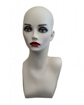 Mannequin Head<br>White or Flesh<br>2 sizes