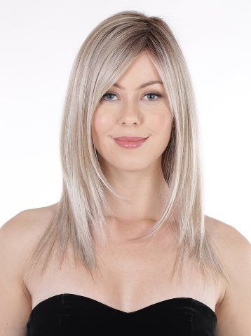 Straight Press 18 Wig<br>Lace Front-Mono Top<br>Heat Friendly<br>Belle Tress