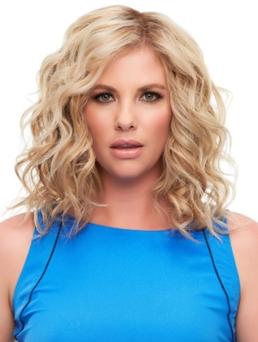 Top Full 12&quot; Elite<br>Remy Human Hair Piece<br>Mono Top<br>Jon Renau
