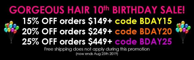 Wig Sale Summer 2019